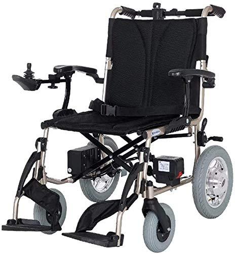 Yuzhonghua Tipo de discapacitados en Silla de Ruedas eléctrica, Silla de Ruedas Plegable Ligero for sillas de Ruedas Especiales, el Asiento Ancho 43cm, 360;Palanca de Mando