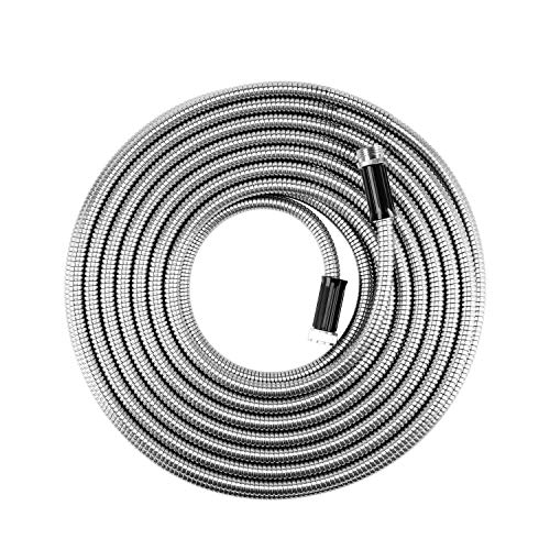 "BEAULIFE Metal Stainless Steel Garden Hose 25 Ft No Kink Lightweight Water Hoses Heavy Duty 3/4""..."