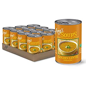 Amy's Organic Soups, Golden Lentil, 14.4 Ounce (Pack of 12)
