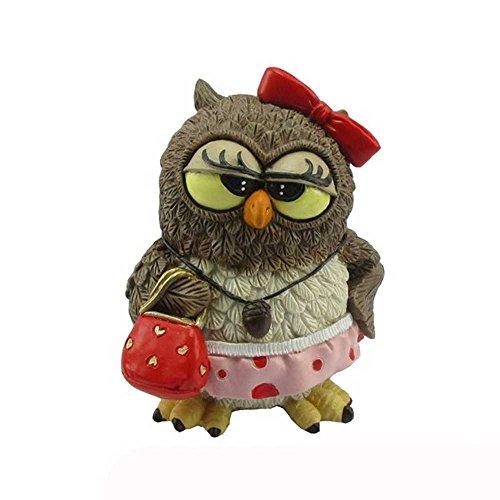Funny Gufi - Uil Lady met strik en hartvormige handtas
