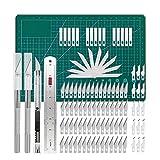 Ardorman Kit de Cuchillos artesanales para Tallado de precisión, Cuchillas de Repuesto para Arte, álbumes de Recortes, Plantillas