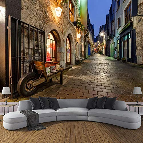 RTYUIHN 3D Photo Wallpaper European Town Night View Large Wall Painting Living Room Bedroom Study Home Decoration Mural Wallpaper