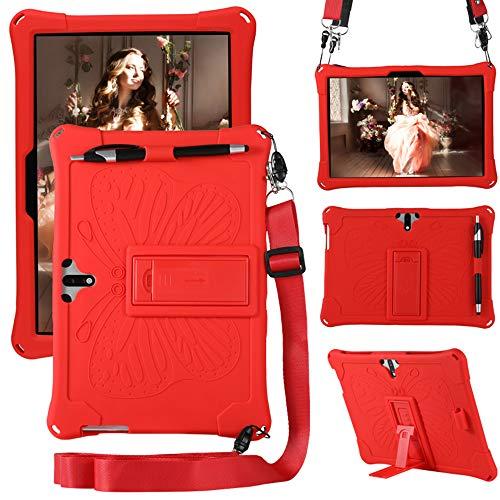YGoal Funda para JUSYEA J5 10 Pulgada -  Cubierta Protectora a Prueba de rasguño Suaves para niños de Peso liviano Silicona Case Cover para JUSYEA 10 Pulgada J5,  Rojo