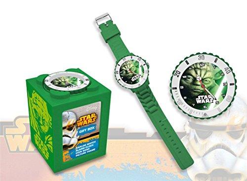 Kids Licensing - SW14044 - Star Wars VII - Geschenkset - 4 in 1 polshorloge - Spaarpot - Wekker en fotolijst Yoda