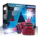 NIGHTEYE Car LED Headlight Bulbs,H8/H9/H11 60W 10000LM 6000K Cool White All-in-One Automotive Conversion Bulb, Extremely Super Bright CSP LED Chips, IP68 Waterproof