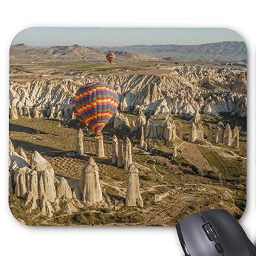 Mauspad mit seidenweicher Textiloberfl?che - Mouse Pad Paradise (antistatische Wirkung - perfekte Gleiteigenschaft PC / Computer Mousepad)-Luftbild von Hei?luftballons Kappadokien 2