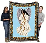 Guardian Angel 2 - Cotton Woven Blanket Throw - Made in The USA (72x54)