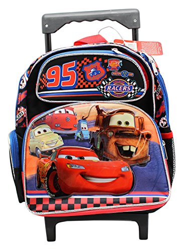 Disney Pixars' Cars Racers 12 inch Small Rolling Backpack