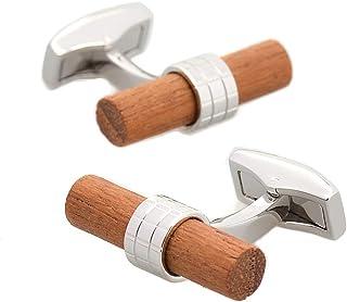 أزرار أكمام خشبية للرجال من Merit Ocean Natural Wood أزرار أكمام خشبية للعمل مع صندوق هدايا