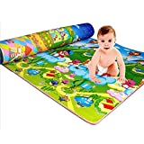 Diswa Double Sided Water Proof Baby Mat Carpet Water Resistant, Set of 1