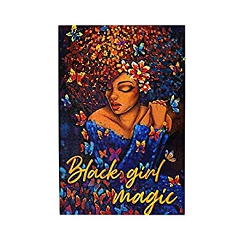 Drawpro African American Puzzles Black Colorful Jigsaw Educational Casual Butterfly Quote Puzzle Game Fun Toy Gift For Girl Son Children Adult Friends Family Senior Citizen Home Decoration 1000 Pieces