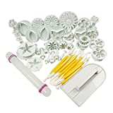 niceEshop(TM) Cake Tools Flower Fondant Cutter Cake Decorating Tools Baking Supplies Kit,14 sets