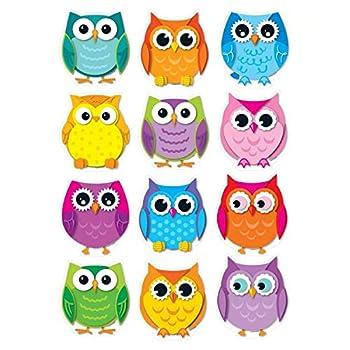 Carson Dellosa – Colorful Owls Colorful Cut-Outs Classroom Décor 36 Pieces
