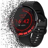 Utry Smartwatch,Reloj Inteligente con 24 Modos Deportivos,Monitor de Sueño de Frecuencia Cardíaca,Podómetro,Cronómetros, rastreador de Fitness Impermeable IP68,para iOS y Android