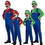One Piece Déguisement Super Mario et Luigi avec moustache et chapeau -  Bleu -  Luigi...