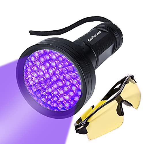REALHUNLEE UV Black Light Flashlight