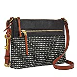 Fossil womens Zb7270080 Cross Body Handbag, Black Stripe, One Size US