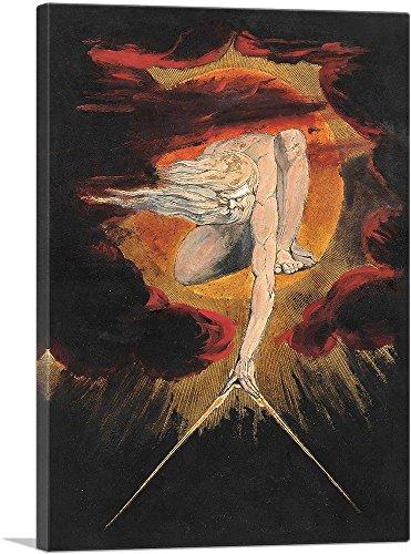ARTCANVAS The Ancient of Days Canvas Art Print by William Blake - 26