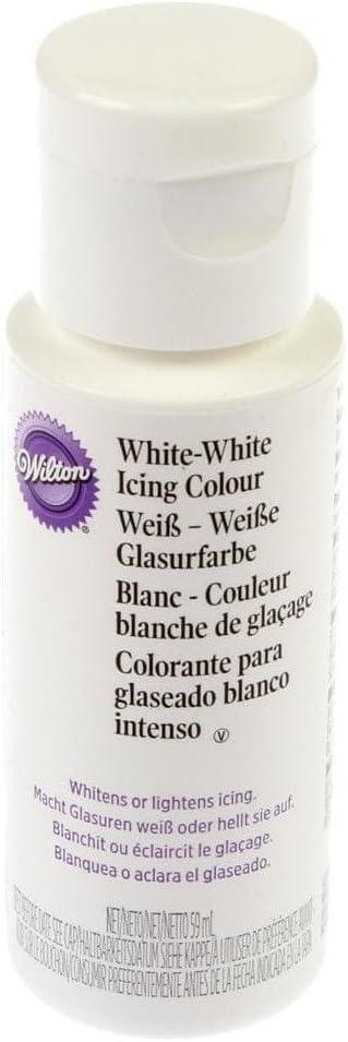 Wilton Colorante alimentario de glaseado intenso (56 ml) Blanco