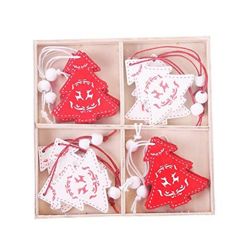 XINGSd speciale 12 Stks/doos creatieve kerstmis houten Chip hangers ornamenten opknoping geschenken kerstboom ornamenten hout ambachtelijke decoraties