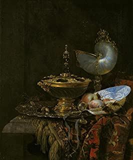 The Museum Outlet - Still life with a Nautilus Cup and Dish - 1678 - Poster Print Online (24 x 18 Inch)