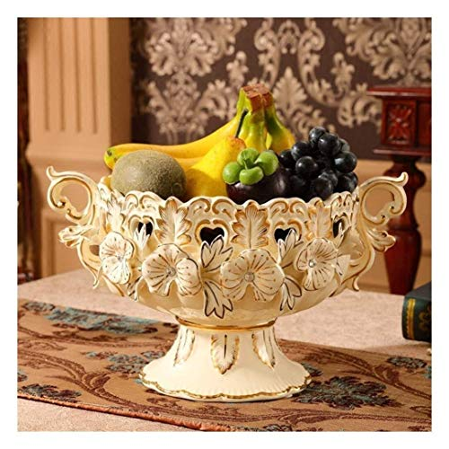 Fruit Bowl - Decoración de cerámica beige placa de fruta de la fruta de la fruta de la bandeja de la bandeja de la bandeja de la bandeja Regalos de boda Bienvenido a casa Calentamiento de cumpleaños P