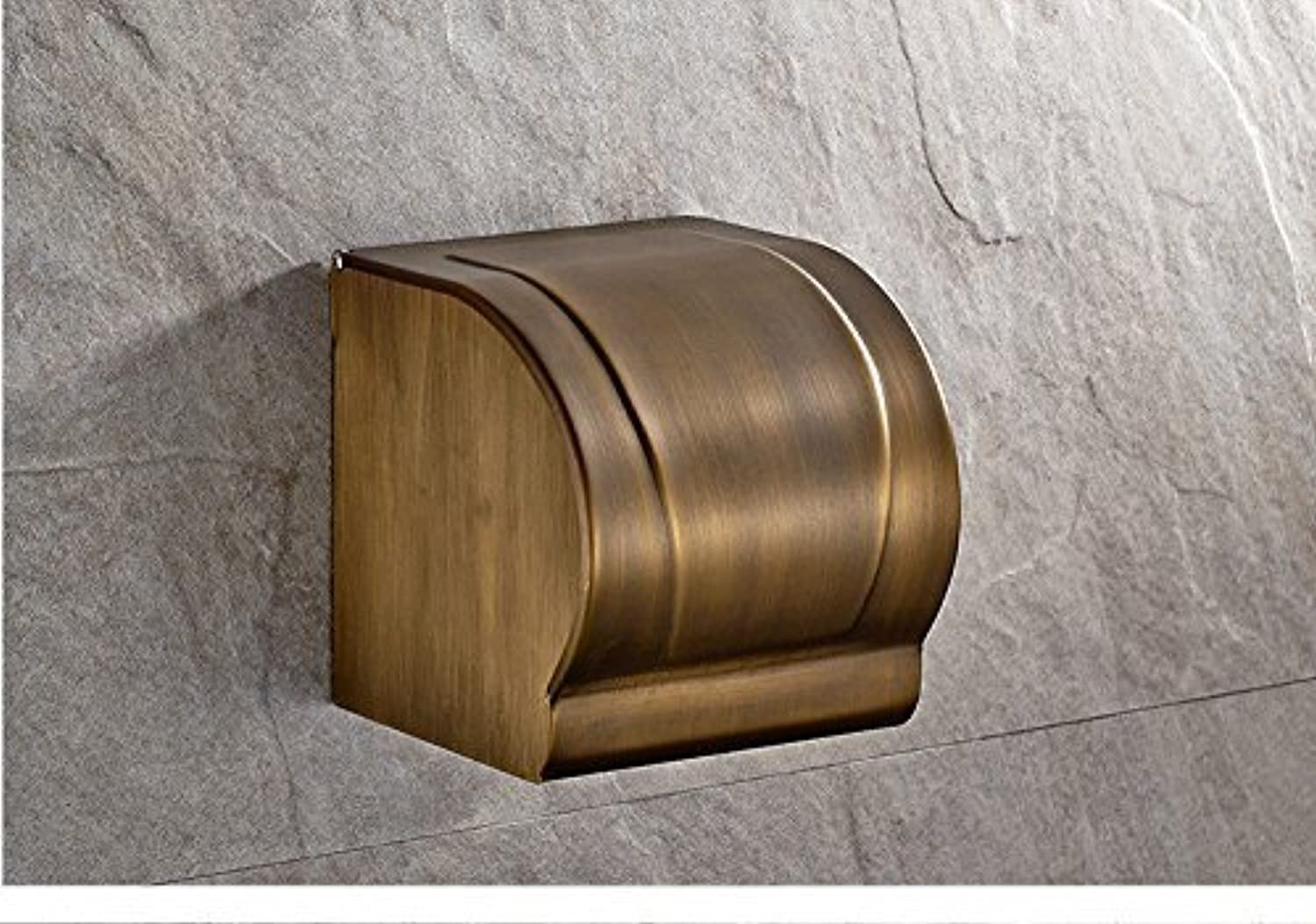 All Accessories for Bathroom Old Copper Waterproof Paper Paper Holder Paper Box Box of Toilet Paper Toilet Toilet Paper Framework
