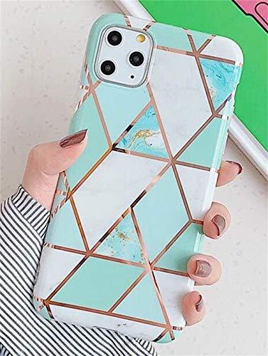 Jacyren - Carcasa para iPhone 11 Pro, carcasa de silicona para iPhone 11 Pro, diseño creativo de mármol ultrafina, carcasa trasera de purpurina, TPU Bumper Case Cover para iPhone 11 Pro, triángulo