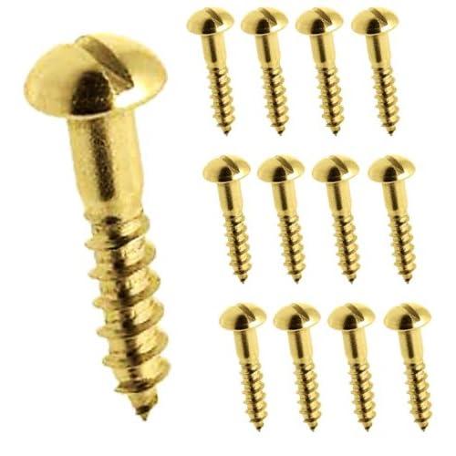 3g x 1//2 Brass Screws Pkt 12 Countersink Clock Case Accessories