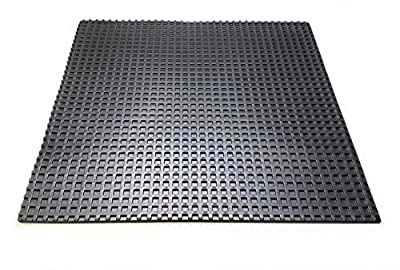 Anti Vibration Mat - 45cm x 45cm, Noise Reducing Rubber Pad for Air Compressors, HVAC, Stereo Equipment, Treadmills