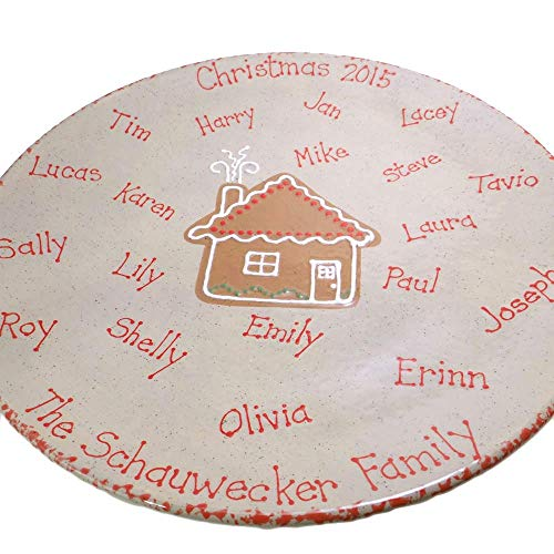 Holiday Cookie Platter Personalized Family Ceramic Christmas Hanukkah Plate