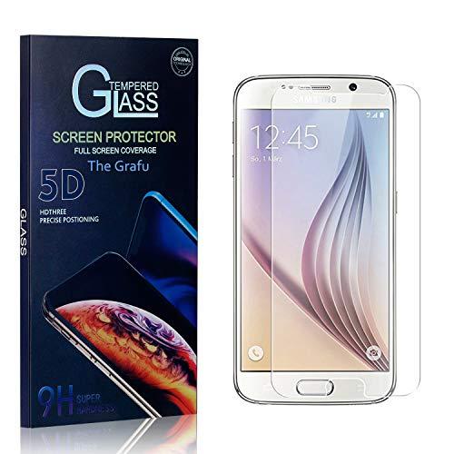 The Grafu Verre Trempé pour Galaxy S6, 3D Touch Film Protection Écran Vitre, Dureté 9H Protection en Verre Trempé Écran pour Samsung Galaxy S6, 4 Pièces