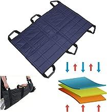 Transfer Boards Belt Slide Bed Assistance Devices Adult Protective Underpads Draw Sheet Turner Medical Lift Sling Hospital Bed Patients Positioning Pad for Elderly Bariatric (Blue - 6 Handles)