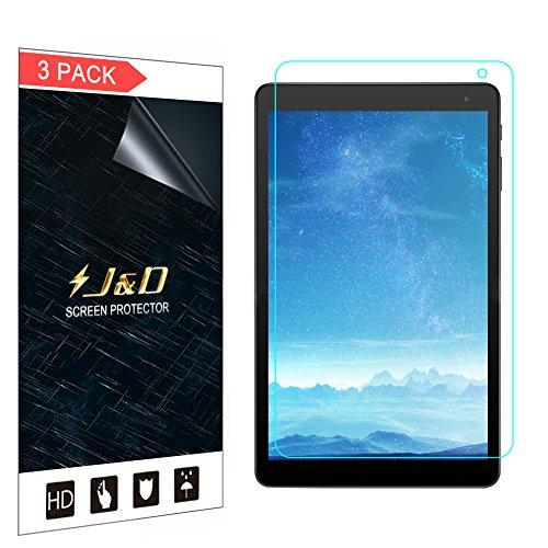 [3er Set] Alcatel 1T 10 inch Bildschirm Schutzfolie, JundD [Nicht Ganze Deckung] Premium HD-Clear Schutzfolie für Alcatel 1T 10 inch