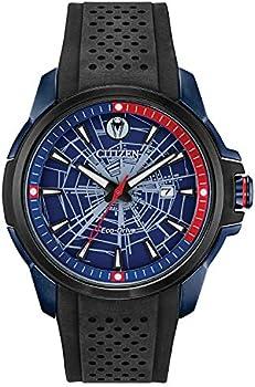Marvel by Citizen Eco-Drive Men's Spider-Man Black Strap Watch