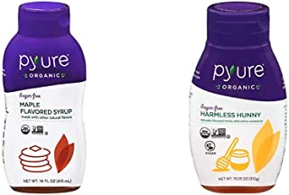 Organic Maple Syrup Alternative by Pyure | Sugar-Free, Keto, Low Carb | 14 Fluid Ounce & Organic Harmless Hunny by Pyure |...