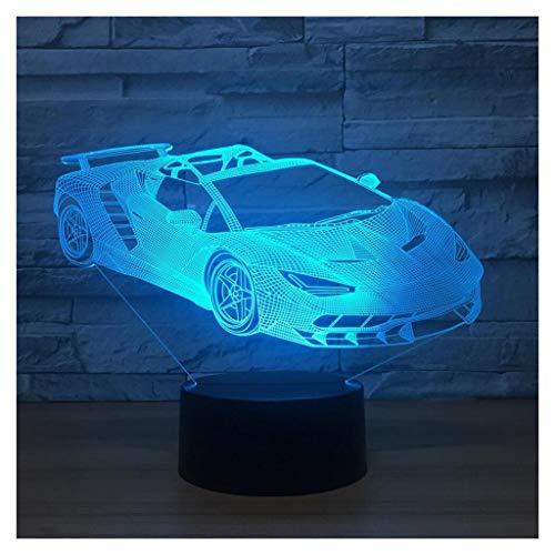 Illusion 3D Veilleuses, Voiture de Sport Moderne LED Table Lampes de Bureau 7 Couleurs Changement de Commutateur Tactile USB Charge éclairage Chambre Maison Lampe Décorative