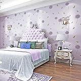 Papel pintado 3D para pared, diseño de diente de león, para dormitorio, salón, TV, fondo de pared, color lila