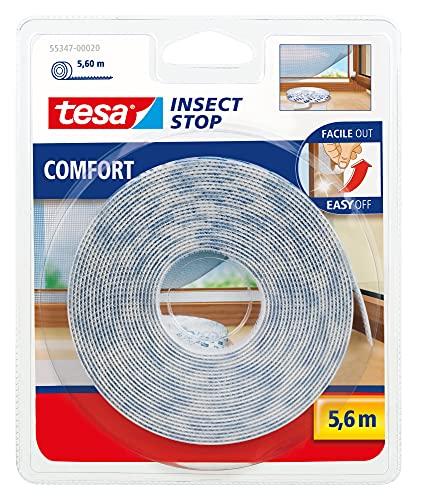 Tesa TE55347-00020-00 Recambio cinta Velcro 5,60m blanco, Standard