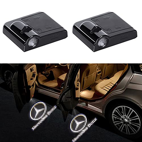 Compatible with Mercedes Benz Door Light Logo Projector, Led Wireless Welcome Courtesy Ghost Shadow Car Door Lights Accessories Fit Mercede C300 C230 C250 CLA250 GLK350 E350 GLC300 E300 Series