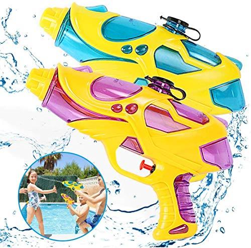 Spielzeug Kinder Wasserpistole Set 360ml Wasser Spritzpistole 2 Stück Spielzeugpistole 5M Reichweite Wasserspielzeug Sommer Kinderspielzeug Mädchen Jungen Wasserspritzpistole für Kinder ab 3 Jahre