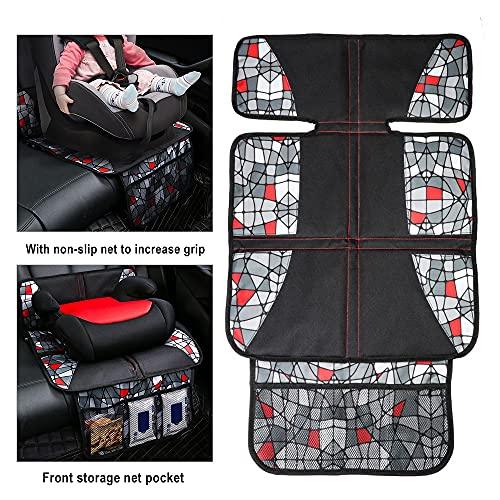 Car Seat Protector Under Mat Thick Padding Protection Child Oxford Anti-Skip Seat Under Mat Seat Cushion Organizer