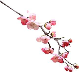 Flores artificiales de seda falsa flor de ciruelo Boda floral Bouquet decoración del partido Flor de ciruelo artificial enredadera de flores colgantes de jardín para comedor salón fiesta o boda Jodier