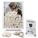 Marco de fotos de madera para invitados de boda de Great Lages, estética, GLA