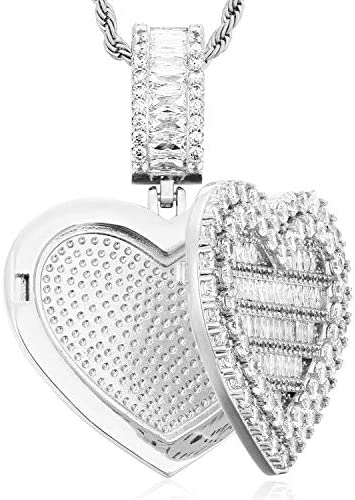 Heart Locket Necklace That Holds Pictures Locket Necklace Photo Locket Necklace for Women Girls product image