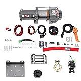 Verricello elettrico, 12 V, 3600LB verricello elettrico per camion, ATV, barche, rimorchi, fuoristrada e altri veicoli speciali.