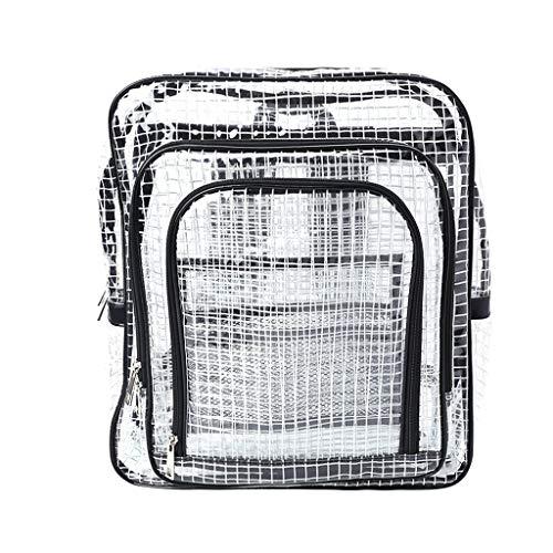 Sac à dos unisexe anti-statique transparent pour voyage, sac à bandoulière en PVC sac à dos ingénieur sac à outils Noir