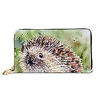レディースバッグ 財布 かわいいヘッジホッグ 大容量 本革 長財布 人気 RFID プレゼントBOX付き 10.5X19CM