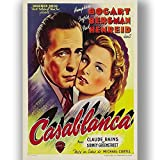 Box Prints Casablanca Film Vintage Retro-Stil Poster