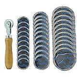 Herramienta de reparación de neumáticos de goma para reparación de coches, motocicletas y bicicletas (32 mm + 43 mm + 57 mm).
